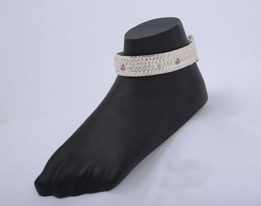 Thick Silver Anklet